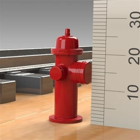 Download STL file Fire Hydrant PROP FOR MODEL TRAIN HOBBY