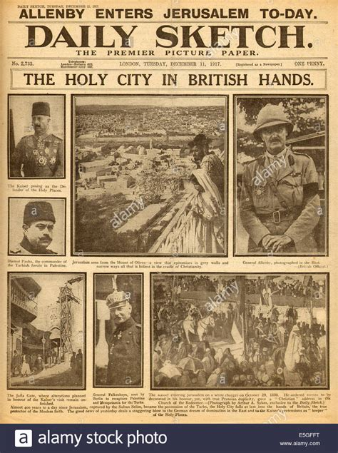 1917 Daily Sketch front page reporting General Allenby