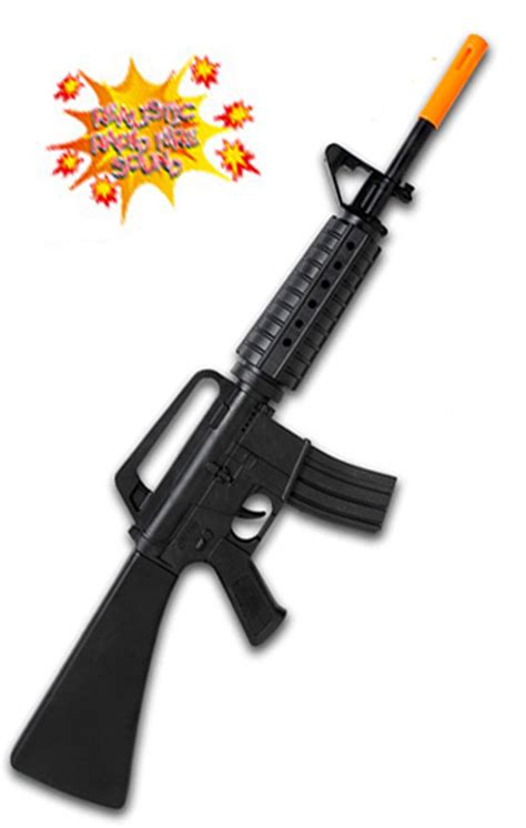 Toy M16 Assault Rifle Soldier or SWAT Costume Accessory by