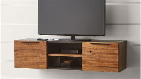 """Rigby 55"""" Small Floating Media Console   Crate and Barrel"""