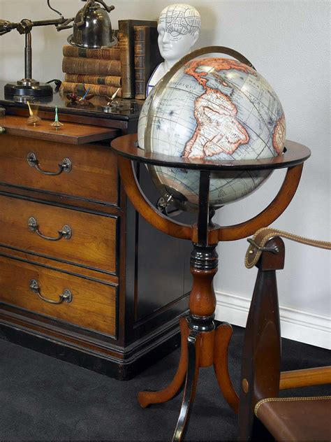 Antique Library Globe (reproduction) or old globe or