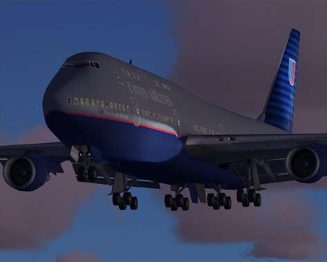 United Airlines Boeing 747-400 for FS2004