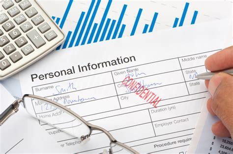Personal information form with confidential stamp – IT