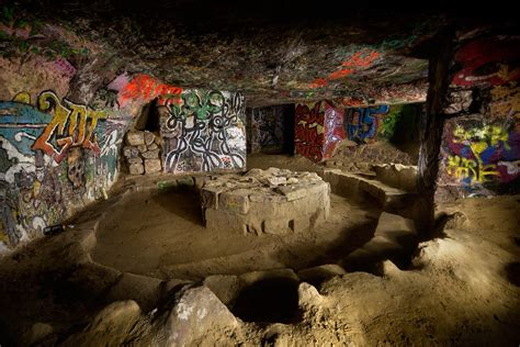 Seating - Photo of the Abandoned Paris Catacombs
