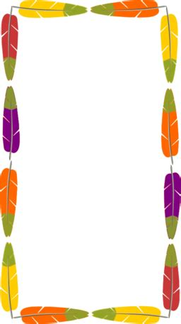 Color Wheel of Feathers Frame clipart