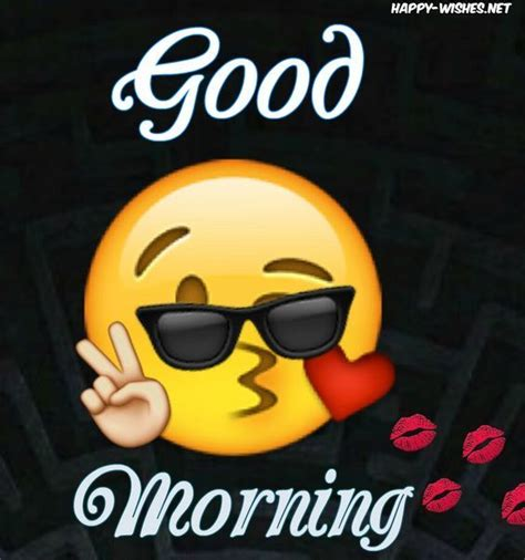 Good Morning Wishes Kissing Emoji Image Pictures, Photos