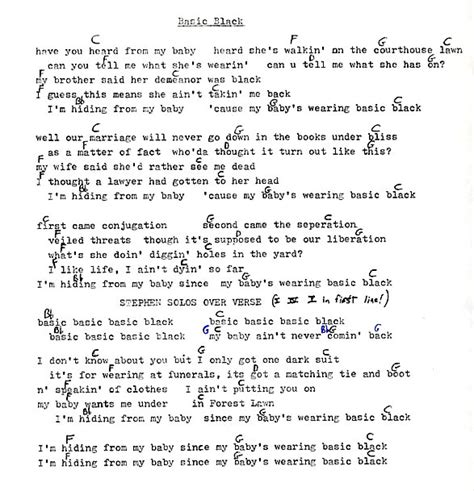 Long Ryders Lyrics and Chords - The Official Website of