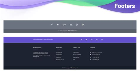 Bootstrap Footer - examples & tutorial