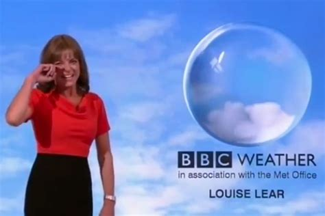 BBC Weather presenter Louise Lear has unstoppable giggling