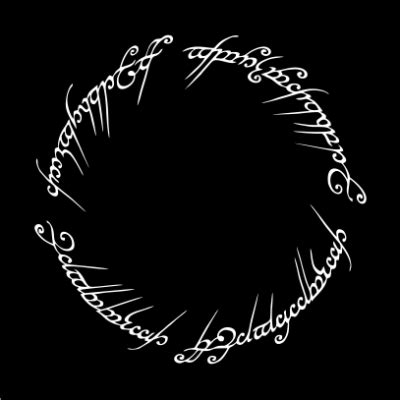 Lord of The Rings Script - JuiceBubble T-Shirts