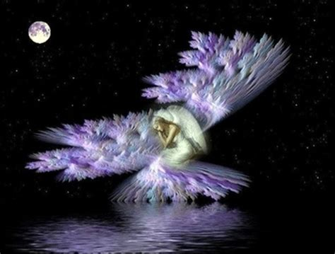 Purple Angel - 3D and CG & Abstract Background Wallpapers