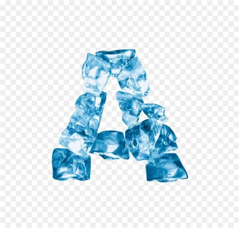 Letter English alphabet Crystal - Ice letters png download