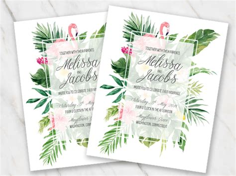 Marriage Invitation Card Design In Word Format | Newpapers