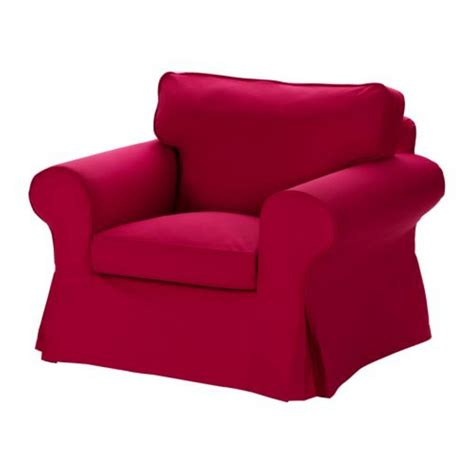 IKEA EKTORP Armchair SLIPCOVER Chair Cover IDEMO RED New