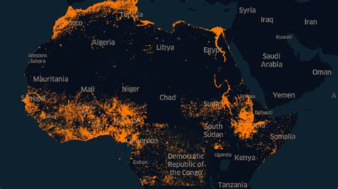 Facebook Africa map uses AI for population density
