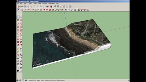 SketchUp and 123D Make: Architectural Terrain Model - YouTube